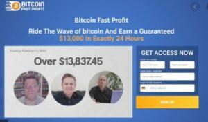 Bitcoin Fast Profit logo homepage
